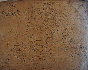 Canton de Courçon en 1861