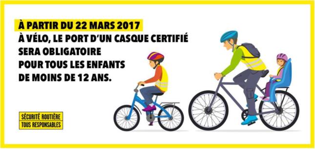 Port du Casque obligatoire à Vélo