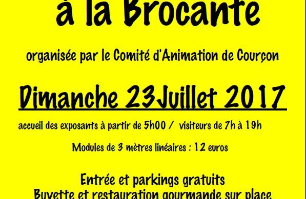 Bulletin d'inscription pour la brocante du 23/07/2017