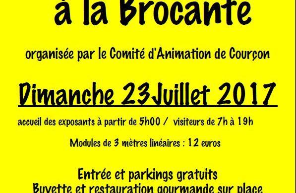 Bulletin d'inscription pour la brocante du 23/07/2017