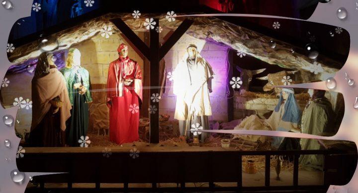 Crèche de Noël à l'église de Courçon