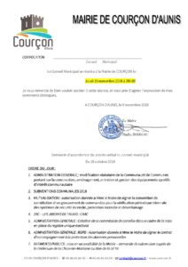 CONSEIL MUNICIPAL @ MAIRIE DE COURCON