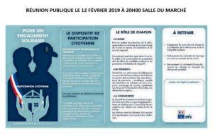 """Réunion Publique sur la """"Participation citoyenne"""" @ Salle du marché"""